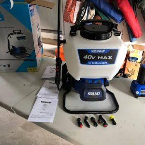 Kobalt 40v max Backpack Sprayer Unboxing & Review