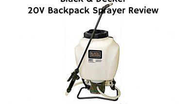 black and decker 20 volt backpack sprayer review
